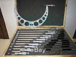 0-12 Precision outside micrometer set 0.0001 carbide standards 12pcs/set-new