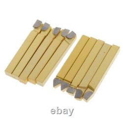 10Pieces Kit Brazed Milling Cutter Tools for Metal CNC Lathe Welding A