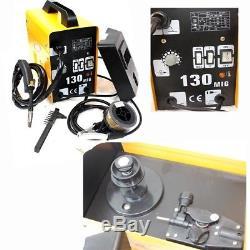 120AMP MIG130 110V Flux Core Auto Feed Welding Machine Welder WithSpool Wire & Fan