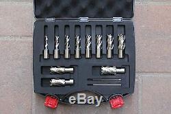 13 pcs HSS Annular Cutter Set, 3/4 Shank Magnetic Drill Set WithPIN