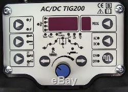 13740 WELDER TIG AC/DC 200 PULSE HF INVERTER ARC STICK AC DC welding machine