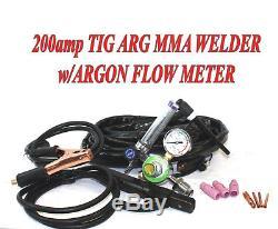 200 AMP DC PULSE TIG ARC MMA INVERTER WELDING WELDER MACHINE WithARGON REGULATOR