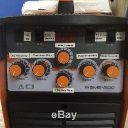 220V WSME-200 AC DC Pulse TIG Welder Welding Machine Aluminium TIG-200 TIG-200P
