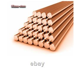 3mm Diameter Copper Round Bar Rod Milling Welding Metalworking 250-600mm Length