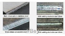 45amp 15mm Cut Hf Start Plasma Cutter & Mma/arc/stick DC Inverter Welder 2 In 1