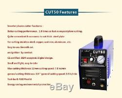 50A Plasma cutter DIGITAL Plasma Cutting machine cut50 230V & accessories 1-14mm