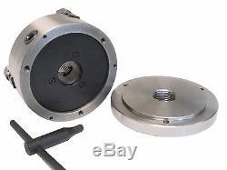 6 3-Jaw ReversibleJaw Lathe Chuck W. 1-1/2 x 8 Adapter