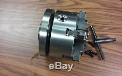 6 6-JAW SELF-CENTERING LATHE CHUCK w. Top&bottom jaws w. 1-1/2-8 adapter-new