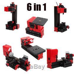 6 in 1 Mini Drehbank Drehmaschine mit Schutzbrille sechs verschiedenen Funktions