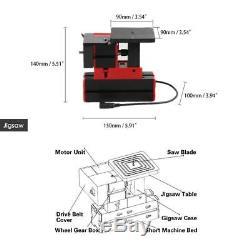 6 in 1 Mini Wood Metal Motorized Lathe Machine Woodworking Hobby DIY Tool Set