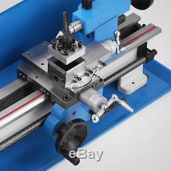 7x12 Mini Metal Lathe Metalworking Woodworking Gears Motorized Milling GOOD