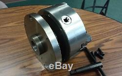 8 3-JAW SELF-CENTERING LATHE CHUCK top & bottom jaws, 1-1/2-8 adaptor plate