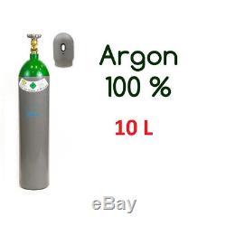 Argon Gas Bottle Cylinder 100% FULL 10 Liter 200 Bar Pure Gas Welding NEW
