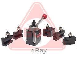 BOSTAR BXA Size Quick Change Wedge Type Tool Post Set for Lathe 10 15