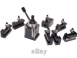 CXA Wedge Tool Post for Lathe 13-18, 250-333 Aloris, Plus 2 Extra Tool Holders