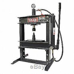 DAKE CORPORATION Hydraulic Press, 10 t, Manual Pump, 36 In, 972200