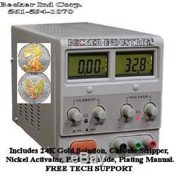Digital 24K Gold/Chrome/Silver/Plating/rhodium Machine kit, NEW