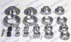Dimple Die Set Includes 1.50, 2.0, And 2.5, 3.0 Inch And Dzus Button Die Kit