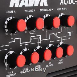HAWK SINGLE 1 PHASE 220v 220A AC DC MMA TIG ARC PULSE HF INVERTER WELDING WELDER