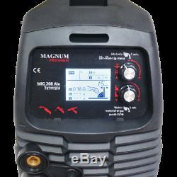 Halbautomatische Schweißgerät MIG208 ALU SYNERGIC MMA MIG/MAG/WIG IGBT 200A 230V