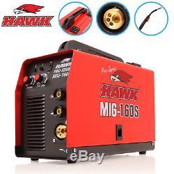 Hawk Mig 160s Mma Flux Solid Wire Feed Portable Inverter Welder Welding Machine