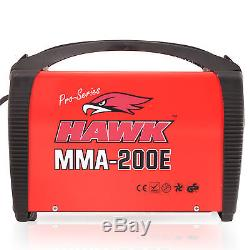 Hawk Tools 230v 200a Stick Mma Arc Portable DC Inverter Welder Welding Machine
