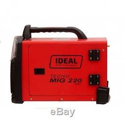 Ideal Tecnomig 220 Mig Mag Flux Mma Welder 200a Gas & Gasless Inverter 1phase