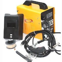 MIG 100 110V FLUX CORE WELDING MACHINE NO GAS WELDER+ Auto Darkening HELMET