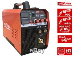 MIG MAG Schweißgerät MIG 200Amp. MMA IGBT Inverter 230V Fülldraht Schutzgas