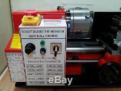Mini Lathe Brand New 7x14 Machine with DRO & 4 Chuck