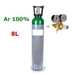 NEW 100% Argon FULL Bottle Cylinder 8 Liter 150 Bar Pure Welding Gas Regulator