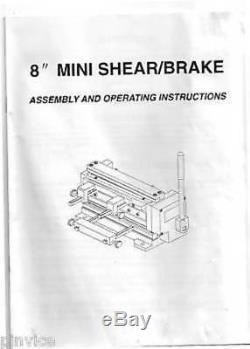 New 8 Metal Bending Brake And Shear