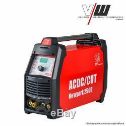 NewYork 2500 Kombi Schweißgerät AC/DC WIG 200 Plus Mit Plasma ALU TIG MMA E-Hand