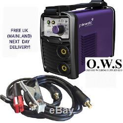 PARWELD XTS 142 MMA Arc Welding Inverter 140 AMP 230v with TIG FUNCTION + LEADS