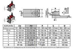 PAULIMOT Schnellwechsel-Stahlhalter-Set Drehbank, System Multifix, Größe Ab