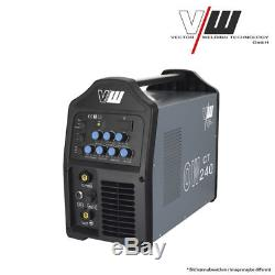 PROFI Schweißgerät DC WIG OW240 Puls m. Plasma Inverter TIG CUT MMA ElektrodeSET