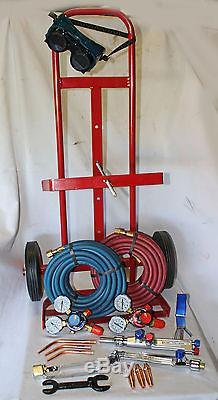 Parweld / Weldcraft Oxy / Acetylene Gas Welding / Cutting Set Portapack Trolley