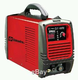 Plasma Cutter Power 50rx 50a Single 220v Vol Ag-60 Torch 1/2 Clean Cut Simadre