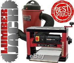 Portable Bench Top Planer Thicknesser & 50 Litre 1200w Dust Chip Extractor 240v