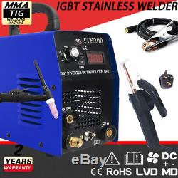 Powerful 200A 2in1 TIG/MMA Stainless Welding Machine & ACCESSORIES WS200 Welder