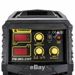 Powermat PM-IMG-230T Schweißgerät MIG MAG FCAW ARC Inverter-Schweißer 230A