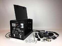 Professional Gasless Mig Welder 195A New 195 Amp 230V No Gas with Accessories