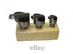 Rdg Tools 3pc Fly Cutter Set With Hss Tool Steel 1/2 Shank