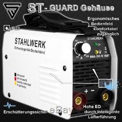 SCHWEIßGERÄT ARC 200 M IGBT DC MMA / E-HAND + Schweißhelm ST-400M schwarz