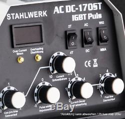 SCHWEIßGERÄT STAHLWERK AC/DC WIG 170 ST IGBT Puls WIG INVERTER m. PULSFUNKTION