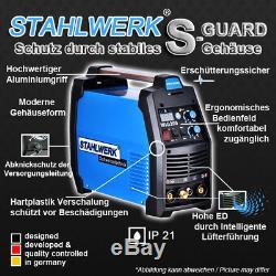 SCHWEIßGERÄT STAHLWERK WIG 200 S DC TIG HF INVERTER mit MMA E-HAND / Antistick