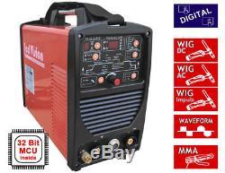 Schweißgerät DIGI AC/DC 200P WIG TIG Puls Waveform + E-Hand MMA 200A IGBT 32-bit