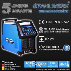 Schweißgerät Stahlwerk Ac/dc Wig 200 Puls S Wig Inverter Pulsfunktion / E-hand