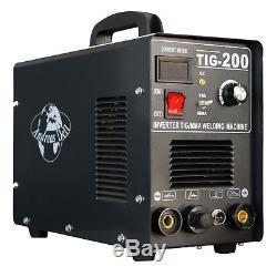 Schweißgerät TIG / WIG + MMA 200 Inverter HF-Zündung + Schweißmaske + Zubehör