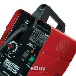 Sealey MIGHTYMIG100 Professional No-Gas Mig Welder 100Amp + GLOVES AND 2 WIRE